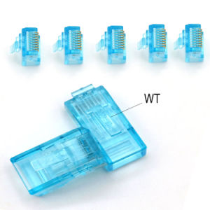 RJ45 Connector for Cat5e or CAT6 Patch Cord RoHS Approved U/UTP Cat5e RJ45 Connector (CE) pictures & photos