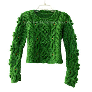 Custom New Design Hand Knit Sweater Cardigan Pullover Apparel Knitwear pictures & photos