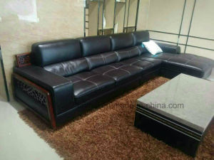 Wood Decoration Modern L Shape Sectional Sofa (corner sofa) pictures & photos