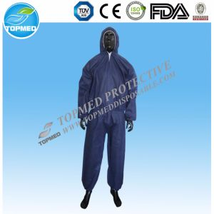 Best Sale SMS Nonwoven Yellow Overalls for Workers pictures & photos