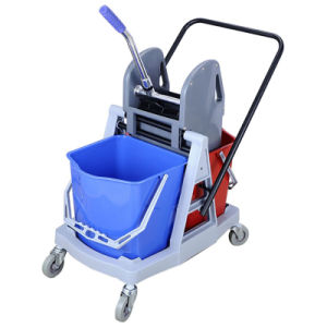 Hotel Plastic Cleaning Cart with Two Detachable Baskets pictures & photos