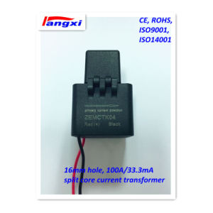 3000: 1 16mm 100A/33.3mA 0.5class Split Core Current Transformer pictures & photos