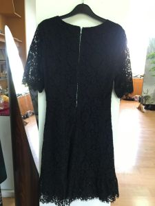 Lady′s Lace Dress, Zipper on The Back, Clothing, Ld002 pictures & photos