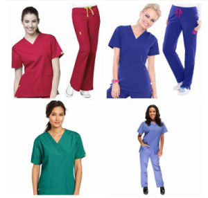 New Style Female Nurse Uniform Designs /Nurse Scrub Suits pictures & photos