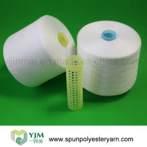 Raw White Bright Spun Polyester Sewing Thread pictures & photos