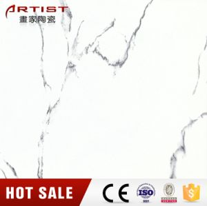 Calacatta White Glossy White Glazed Porcelain Floor Tile pictures & photos
