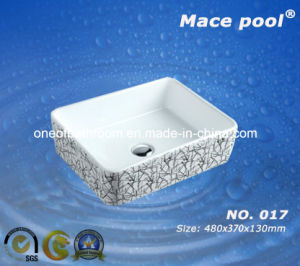 Six Style Square Ceramic Basin for Asia Market (017) pictures & photos
