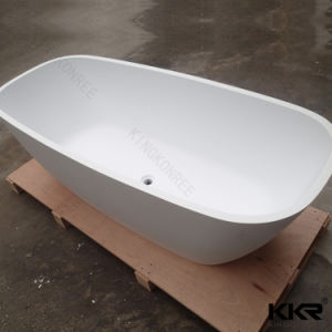 Sanitary Ware Solid Surface Acrylic Black Bathtub pictures & photos