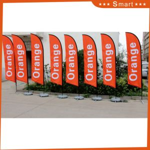 Advertising Polyester Knife Flag with Fiberglass Pole Feather Bow Banner for Fun pictures & photos