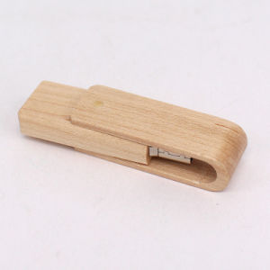Hot Wood Swivel Custom Promotional USB Flash Drives with Your Logo pictures & photos