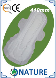 410mm Nights Used Soft Cotton Female Sanitary Pads pictures & photos