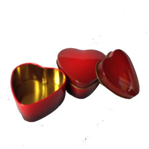 Small Heart Shape Tin Box Promtioal Tin pictures & photos