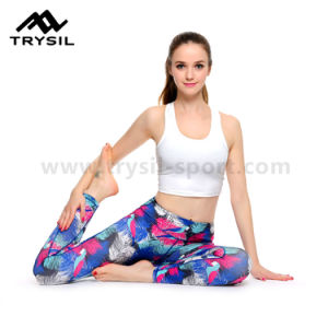 Custom Wholesale Lady′s Yoga Pants pictures & photos