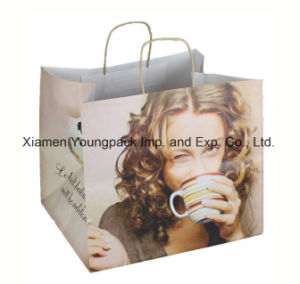 Fashion Custom Printed Art Paper Shopping Tote Carrier Bag Wholesale Promotional Small Gift Packaging Paper Bags pictures & photos