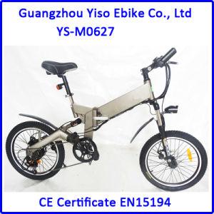Guangzhou Yiso Electric Folding Bike 350W Mountain E Bike pictures & photos