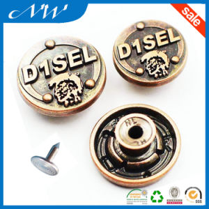 Customized Good Quality Metal Alloy Jeans Button pictures & photos