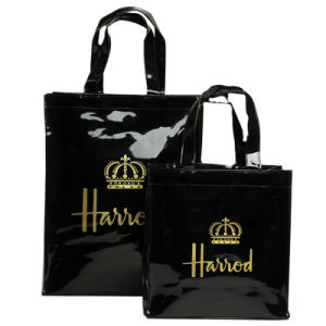 Two Sizes Waterproof PVC Canvas Shopping Bag (H004) pictures & photos