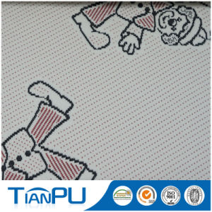 New Cartoon Pattern Design 100% Polyester Jacquard Shell Fabric Mattress pictures & photos