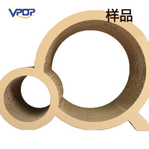 No Printed Circle Corrugated Cardboard Cat Scratching Toy