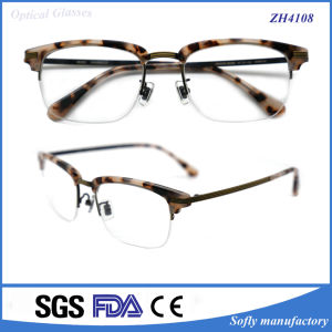 2015 New Design Popular Eyeglasses of Acetate Optical Half Frame pictures & photos