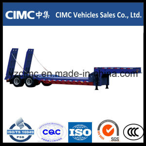 Cimc 40ton Low Bed Semi Trailer with Two Axles pictures & photos