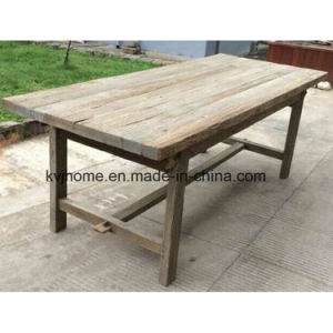 French Style 10 Seat Reclaimed Wood Farm Dining Table (AF-126) pictures & photos
