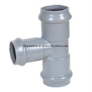 Rubber Ring Joint PVC Reducing Tee M/F/F pictures & photos