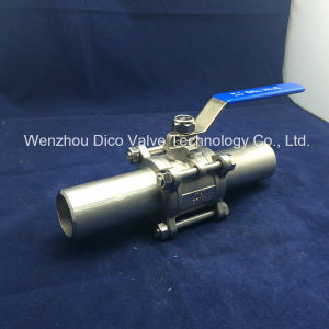 Butt Weld End 3PC Ball Valve with Extended Pipe pictures & photos