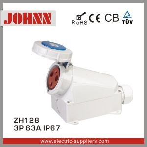 IP67 3p 63A Surface Mounted Industrial Socket pictures & photos