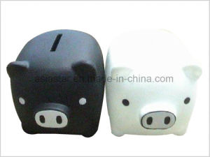 Black PVC Big Nose Piggy Bank pictures & photos