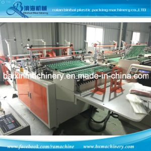 Self-Sealing OPP Gusset Bag Poly Bag Making Machine pictures & photos