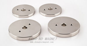 Permanent Neodymium Cylinder Magnet with RoHS (N35) pictures & photos