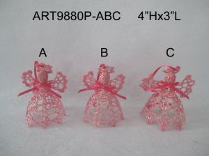 Christmas Decoration Pink Angel Crochet, 3asst pictures & photos