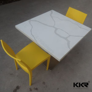 Restaurant Furniture Quartz Stone Dining Table Set pictures & photos