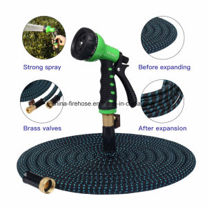 50FT Expanding Hose with 8 Functions Sprayer, Expandable Garden Hose with Strongest TPS, Solid Brass Connector Fitting, Extra Strength Fabric Garden Hose Nozzle pictures & photos