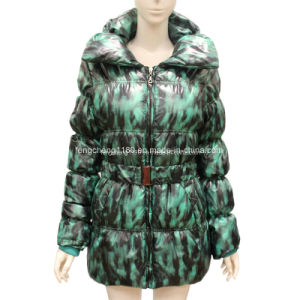 Women′s Long Duck Down Filled Coats pictures & photos
