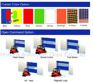 China Supplier Fast Moving PVC Soft Curtain High Speed Industrial PVC Door (Hz-HS0213) pictures & photos