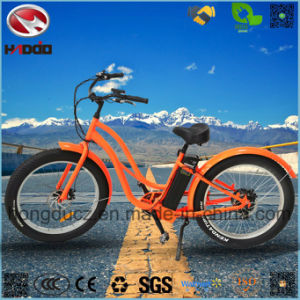 500W Lithium Battery Fat Tire Electric Beach Bike for Woman pictures & photos