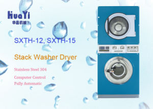Stack Washer and Dryer Machine in Commercial Laundry Equipment pictures & photos