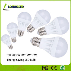 Energy Saving Plastic LED Bulb 3W 5W 7W 9W 12W 15W 18W LED Bulb Light with Ce RoHS China Manufacturer pictures & photos