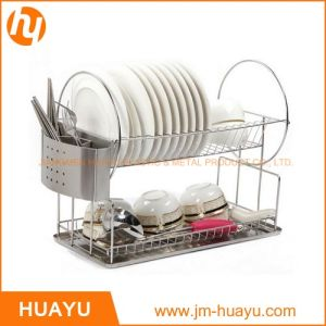 Stainless Steel Dish Drainer Drying Racktube 13mm Diameter with Removable Tray pictures & photos