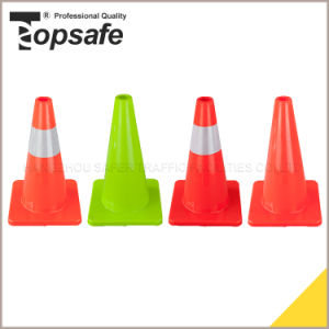18inch Road Safety Fluorescent Orange PVC Traffic Cone (S-1231) pictures & photos