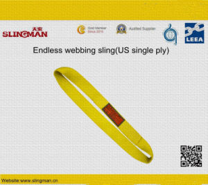 ASME B30.9 Us Three Ply Webbing Lifting Slings (TS-W08-08) pictures & photos