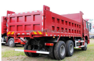 HOWO 6*4 Red Dump Truck pictures & photos