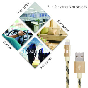 Round Cable for iPhone Data Cable Original Nylon Braided USB Charger Cable pictures & photos