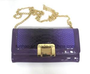 New Design Patchwork Croco Lady Chain Shoulder Evening Party Purse Bag pictures & photos
