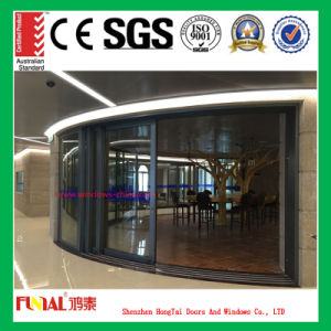 Good Soundproof Double Tempered Glass Sliding Door (HT-YY70) pictures & photos