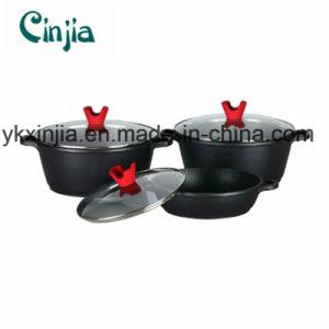 Aluminum Nonstick Soup Pot Cookware Set with Glass Lid pictures & photos