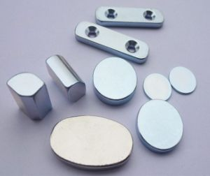 Cylinder Sintered Neodymium Permanent Magnet Plated Znic pictures & photos