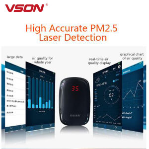 Pm2.5 Detector Data Logger with APP Smart Reminder for Indoor Air Quality Monitor pictures & photos